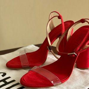 Shutz blocked heels